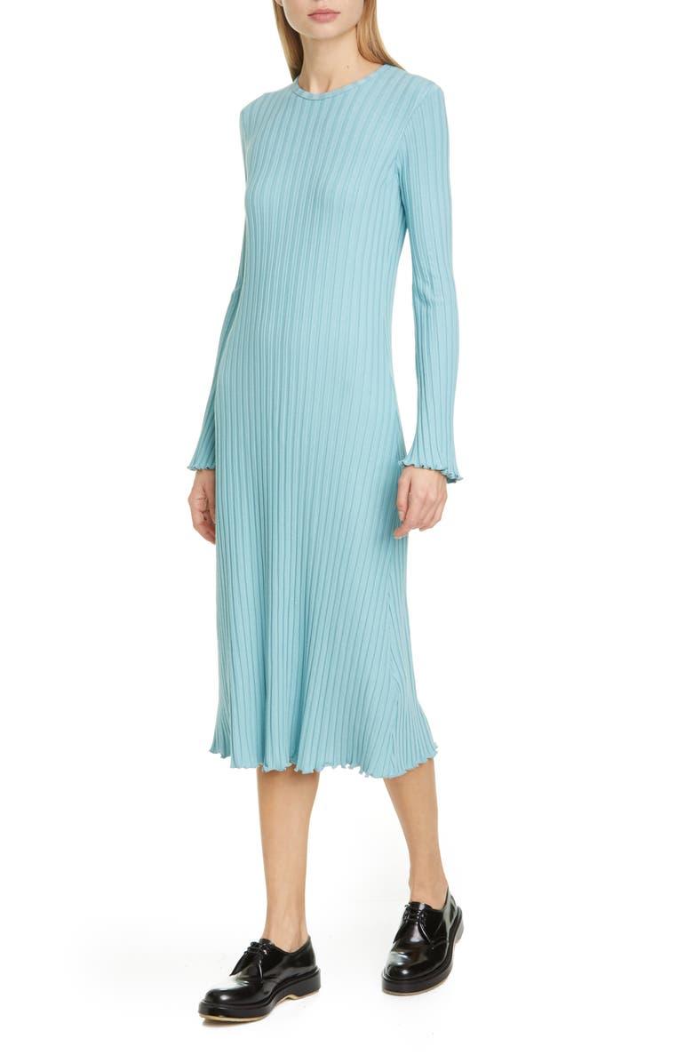 SIMON MILLER RIB by SIMON MILLER Wells Rib Midi Dress, Main, color, WAVE
