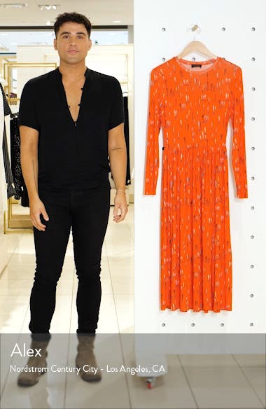 Joel Long Sleeve Midi Dress, sales video thumbnail