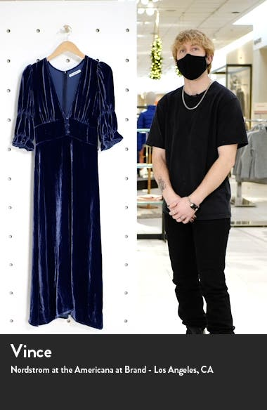 Maura Velvet Midi Dress, sales video thumbnail