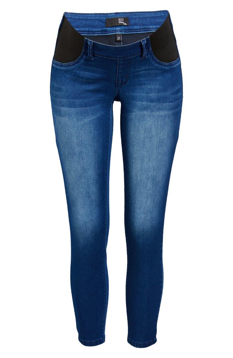 1822 DENIM Butter Skinny Maternity Jeans, Main, color, DONNA