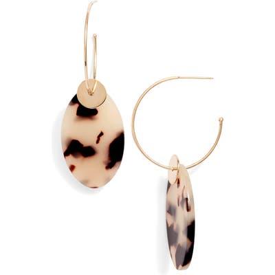Zoe Chicco Tortoise Drop Hoop Earrings