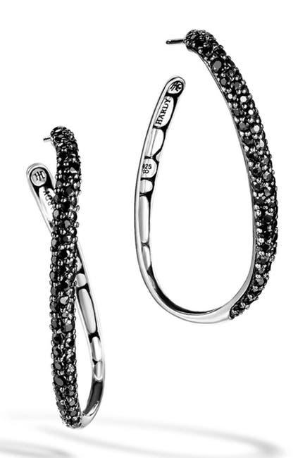 Image of JOHN HARDY Sterling Silver Kali Lava Hoop Earrings