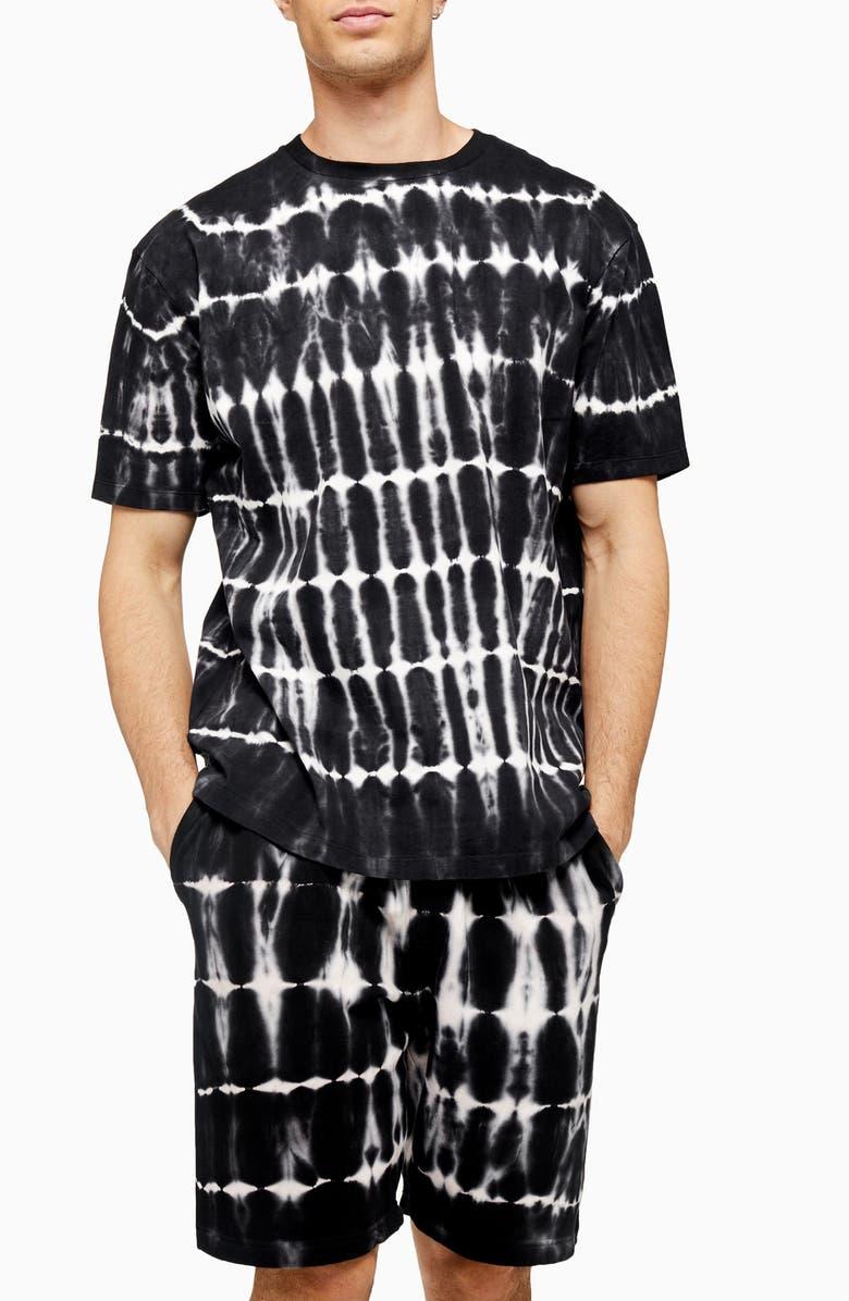 TOPMAN Tie Dye Oversize T-Shirt, Main, color, 001