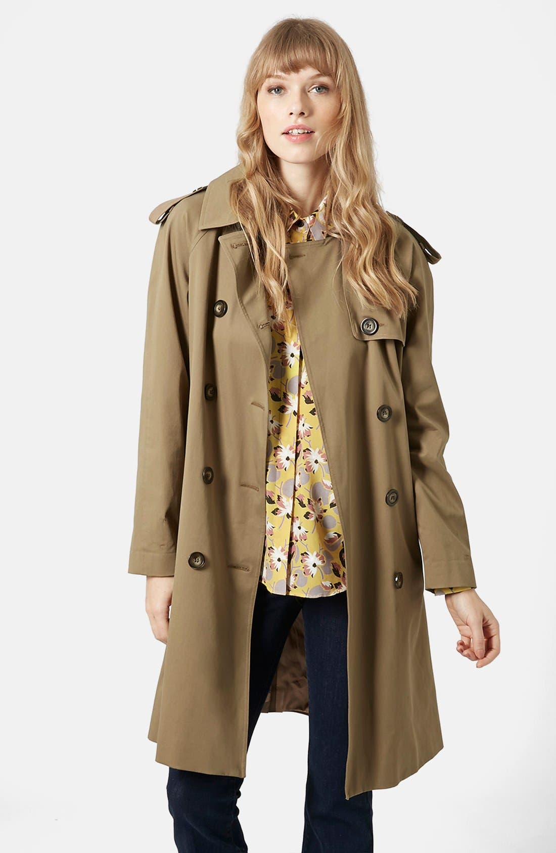 'Scout' Double Breasted Trench Coat, Main, color, 200