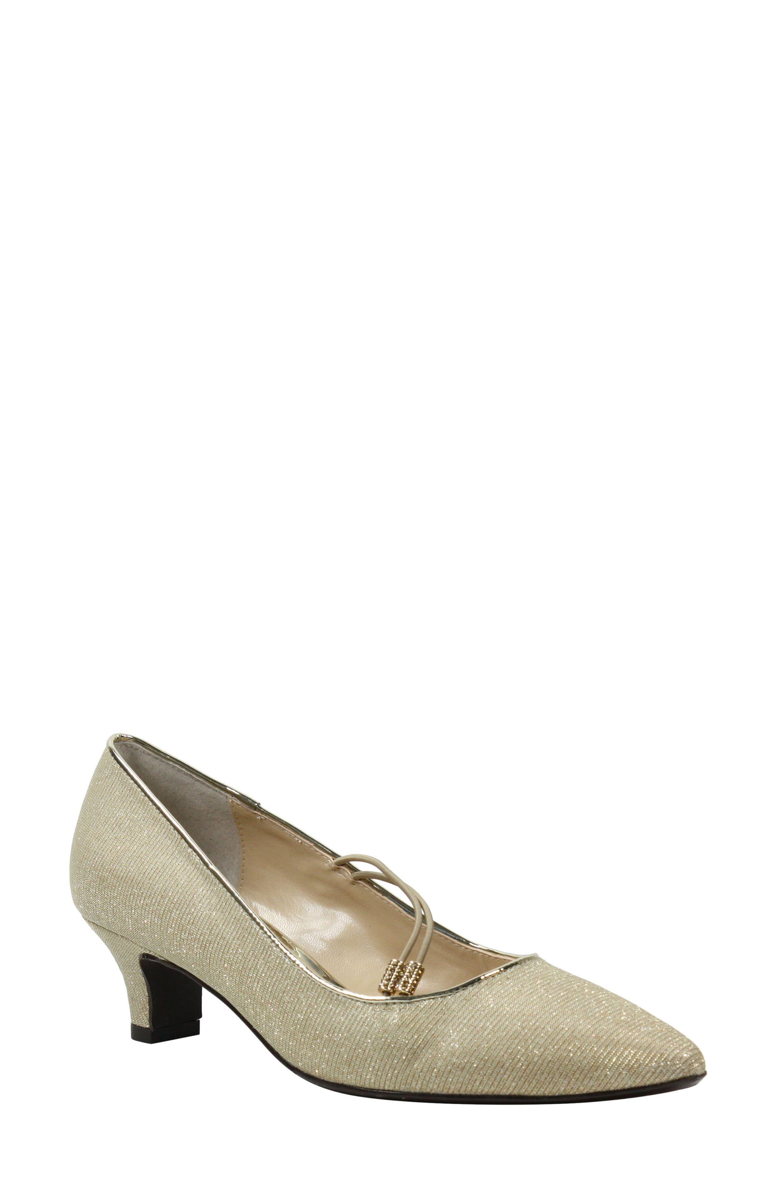 Women's J. Renee Idenah Pointed Toe Pump, Size 7 B - Metallic