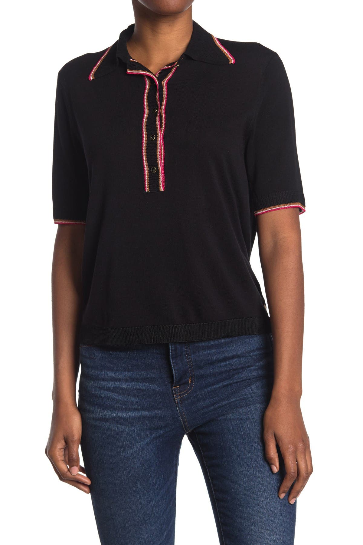 Image of Scotch & Soda Draped Knit Sporty Polo