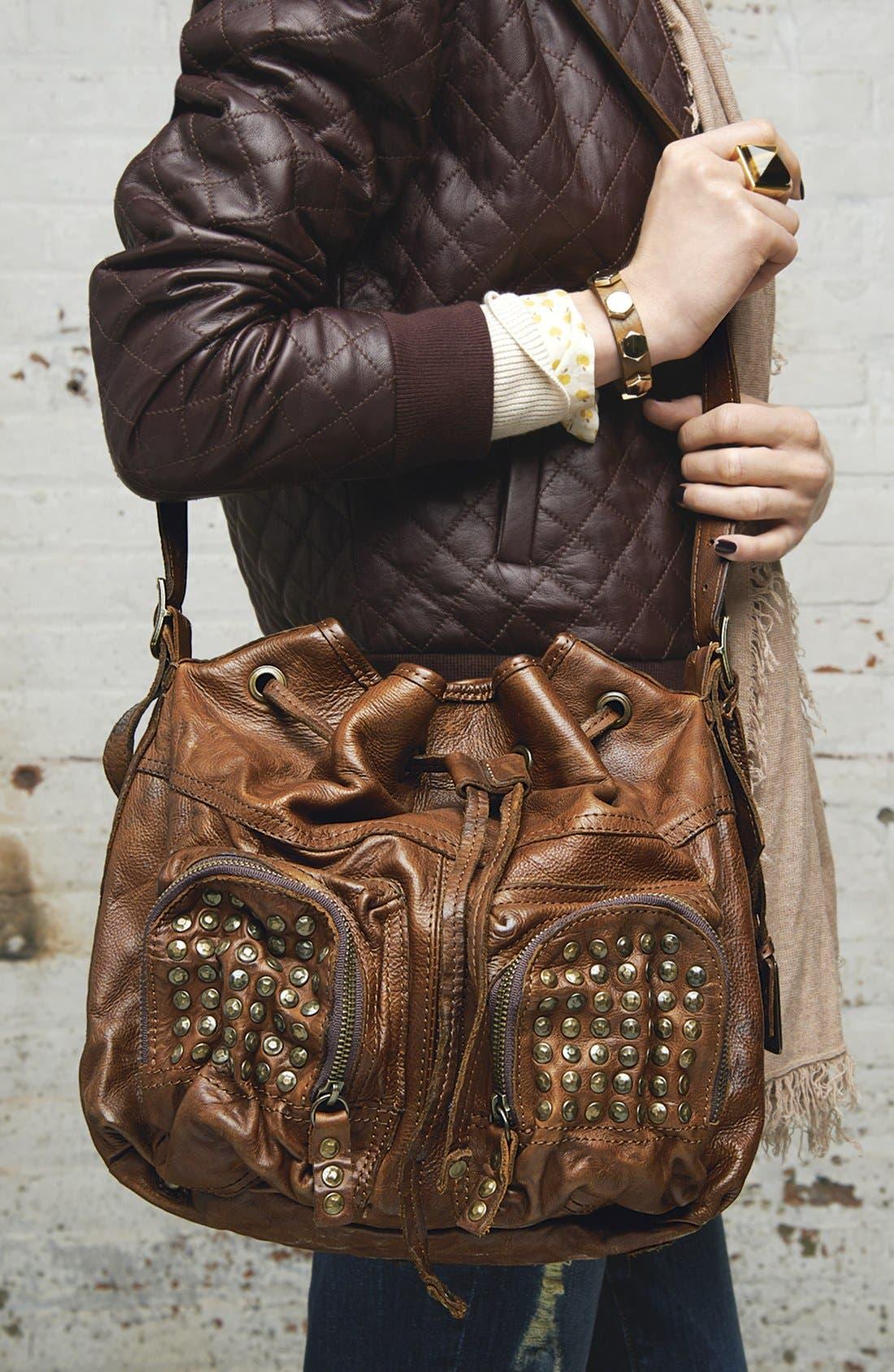 ,                             'Brooke' Drawstring Shoulder Bag, Medium,                             Alternate thumbnail 4, color,                             001