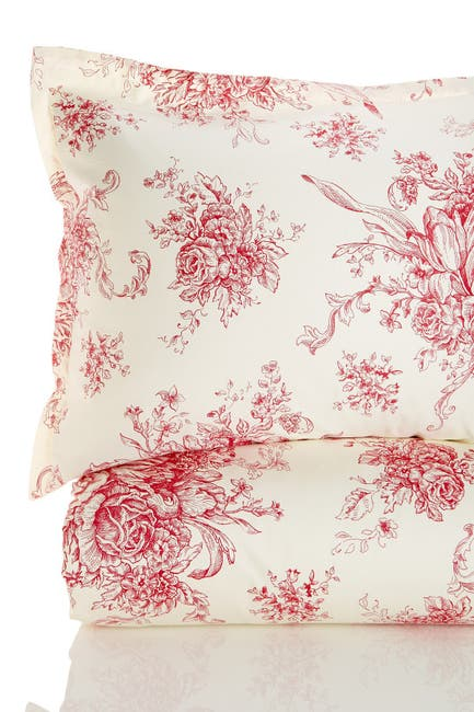 Image of Melange Home Full/Queen 400 Thread Count Cotton Toile Duvet Set