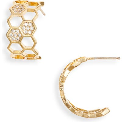 Bracha Honeycomb Hoop Earrings