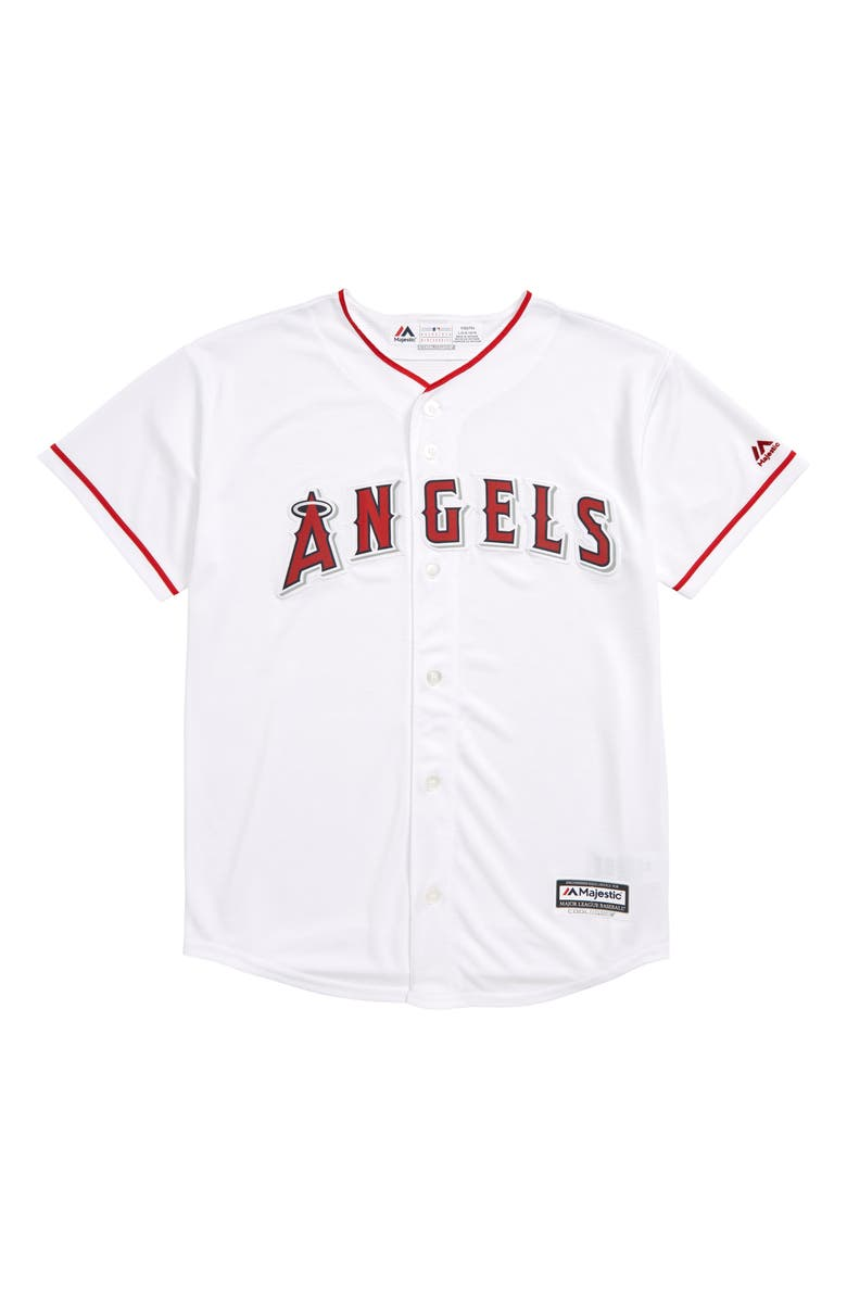 MAJESTIC MLB Los Angeles Angels Home Replica Baseball Jersey, Main, color, WHITE