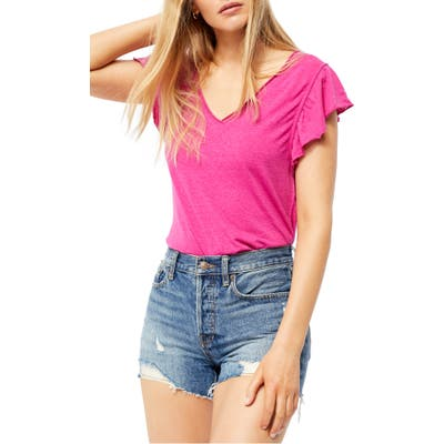 Free People Effortless Shirt, Pink