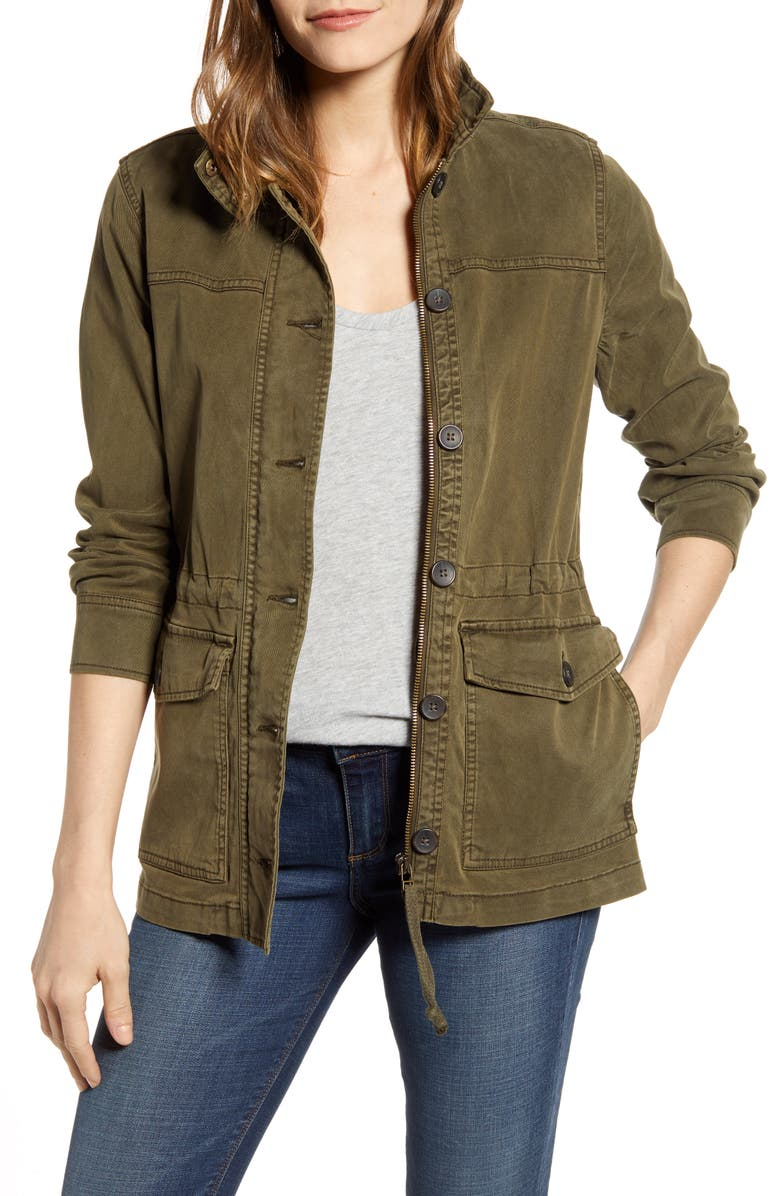 LUCKY BRAND Utility Jacket, Main, color, OLIVE NIGHT