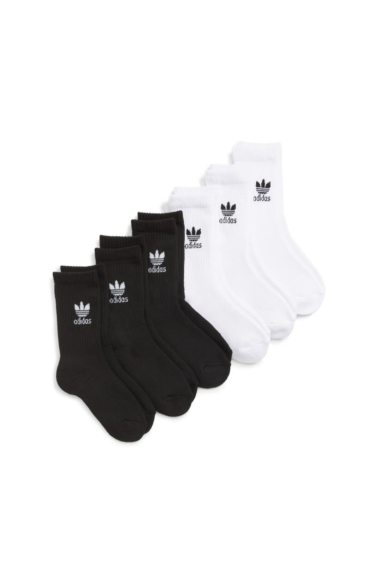 ADIDAS ORIGINALS adidas Trefoil 6-Pack No-Show Socks, Main, color, 100