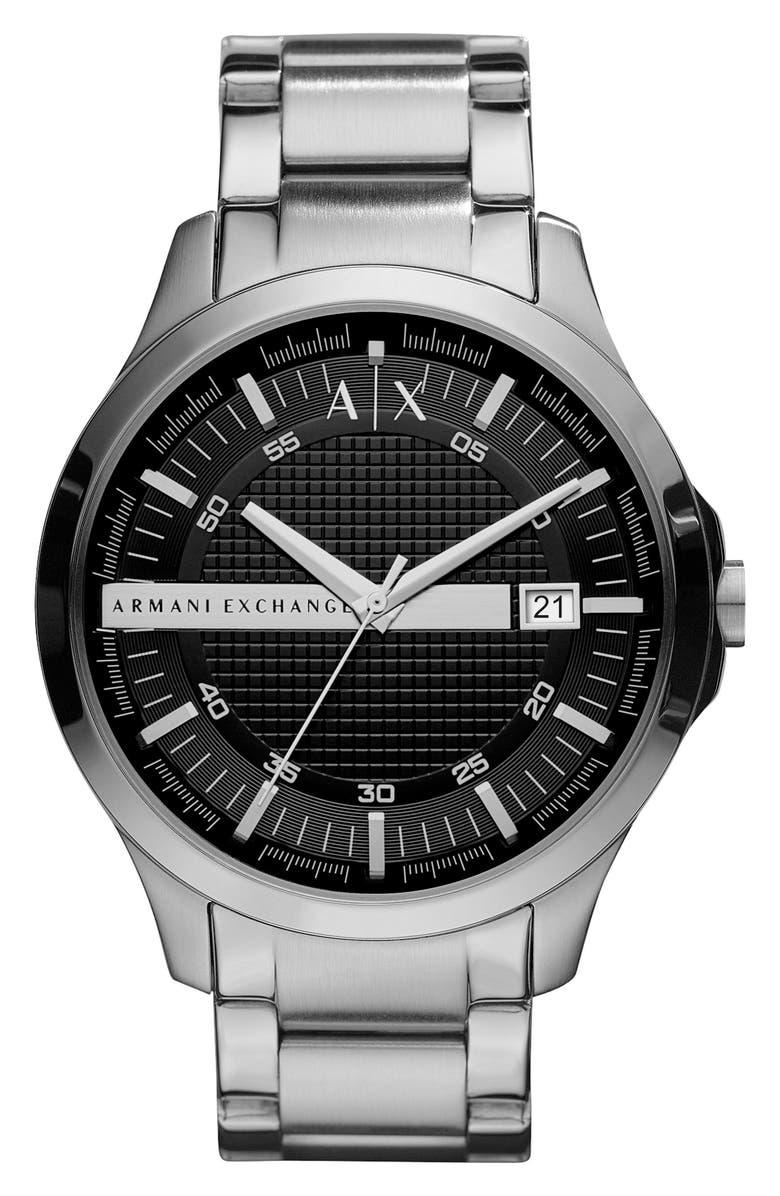 AX ARMANI EXCHANGE Bracelet Watch, 46mm, Main, color, 001