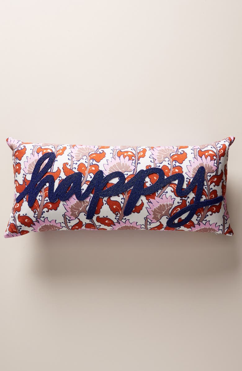 ANTHROPOLOGIE Devann Accent Pillow, Main, color, 650