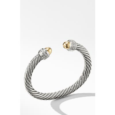David Yurman Cable Classics Bracelet With Semiprecious Stones & Diamonds, 7mm