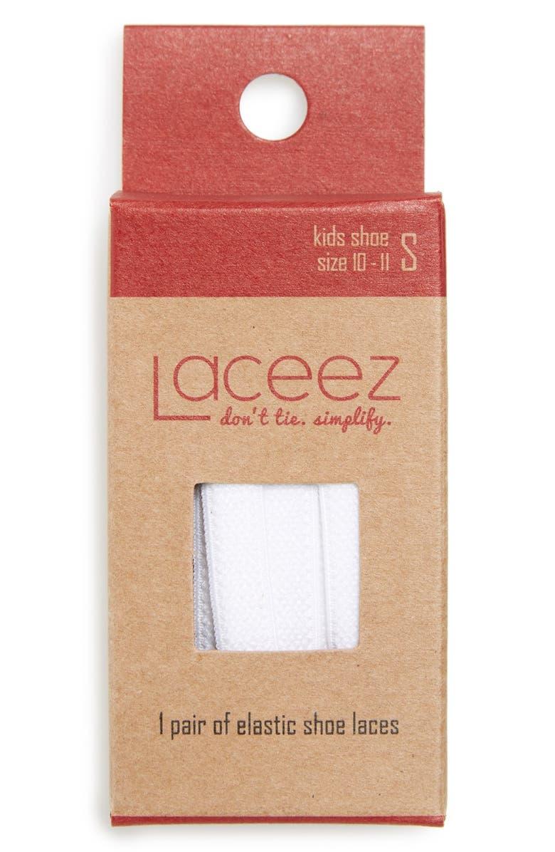 LACEEZ No-Tie Elastic Shoe Laces, Main, color, 100
