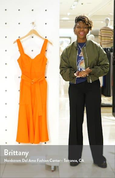 Sabrina Linen Blend Bustier Dress, sales video thumbnail