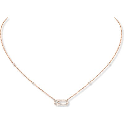 Messika Move Uno Pave Diamond Pendant Necklace
