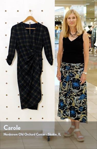 Plaid V-Neck Sheath Dress, sales video thumbnail