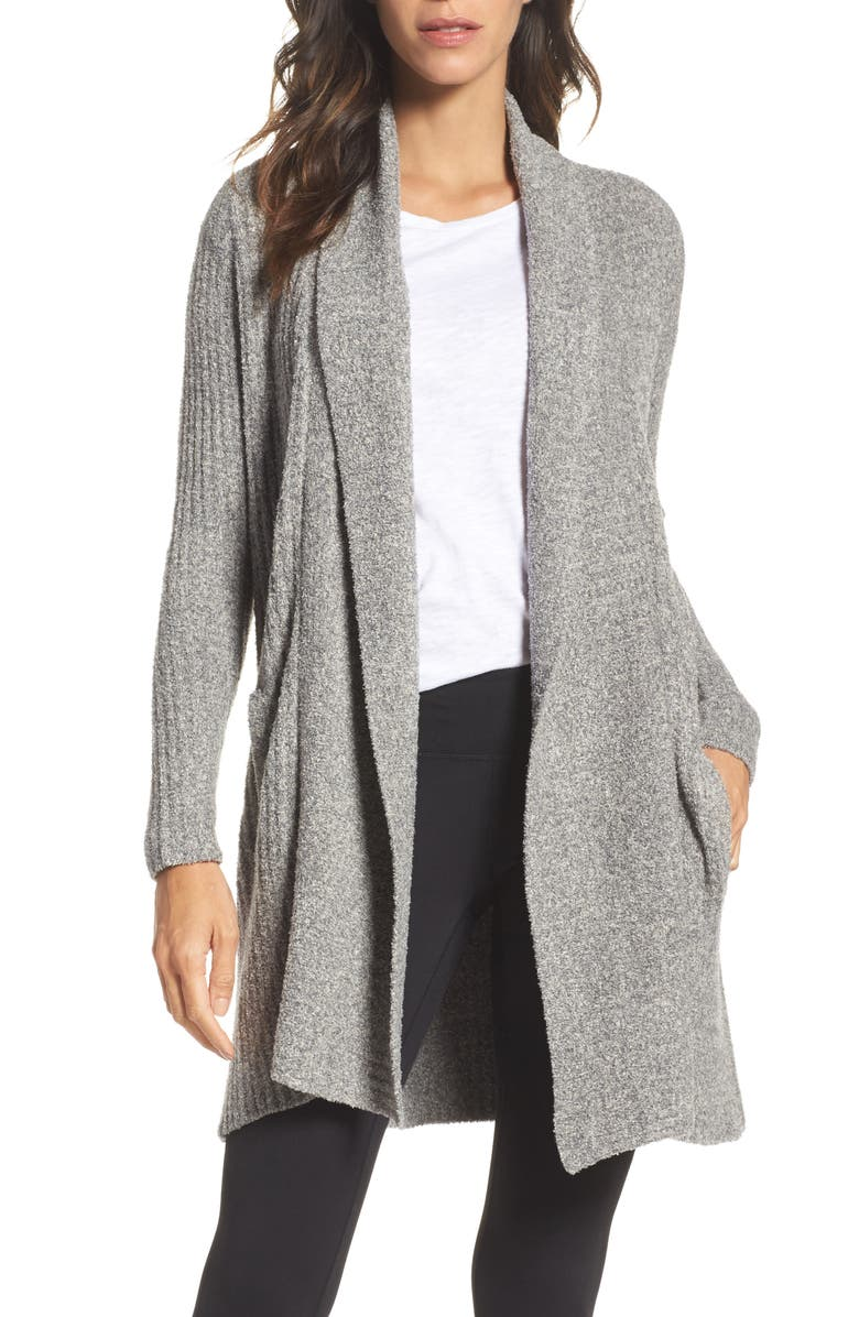 BAREFOOT DREAMS<SUP>®</SUP> Montecito Cardigan, Main, color, GRAPHITE/ STONE