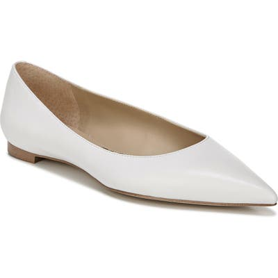 Sam Edelman Stacey Pointed Toe Flat- White