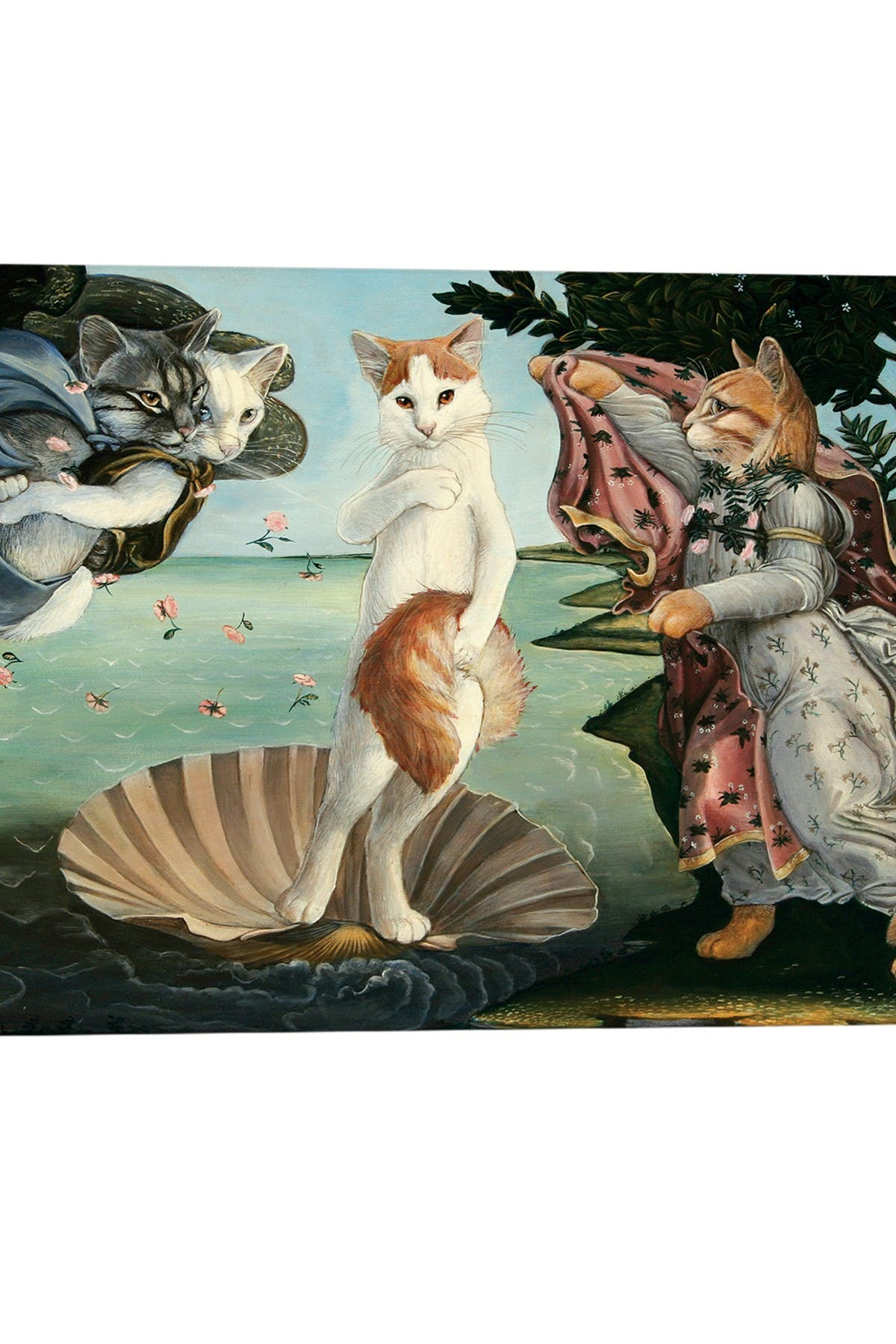 Image of iCanvas Kitty On The Half Shell by Melinda Copper