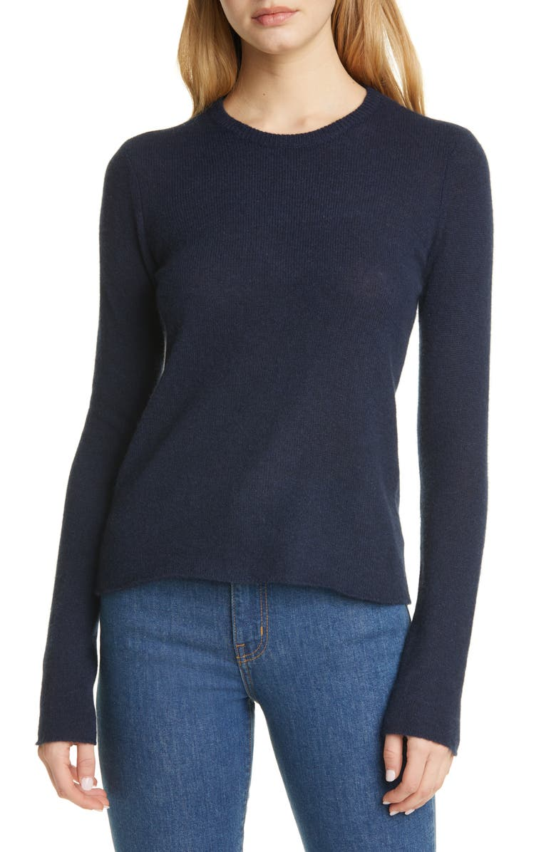 ATM ANTHONY THOMAS MELILLO Cashmere Crewneck Sweater, Main, color, MIDNIGHT