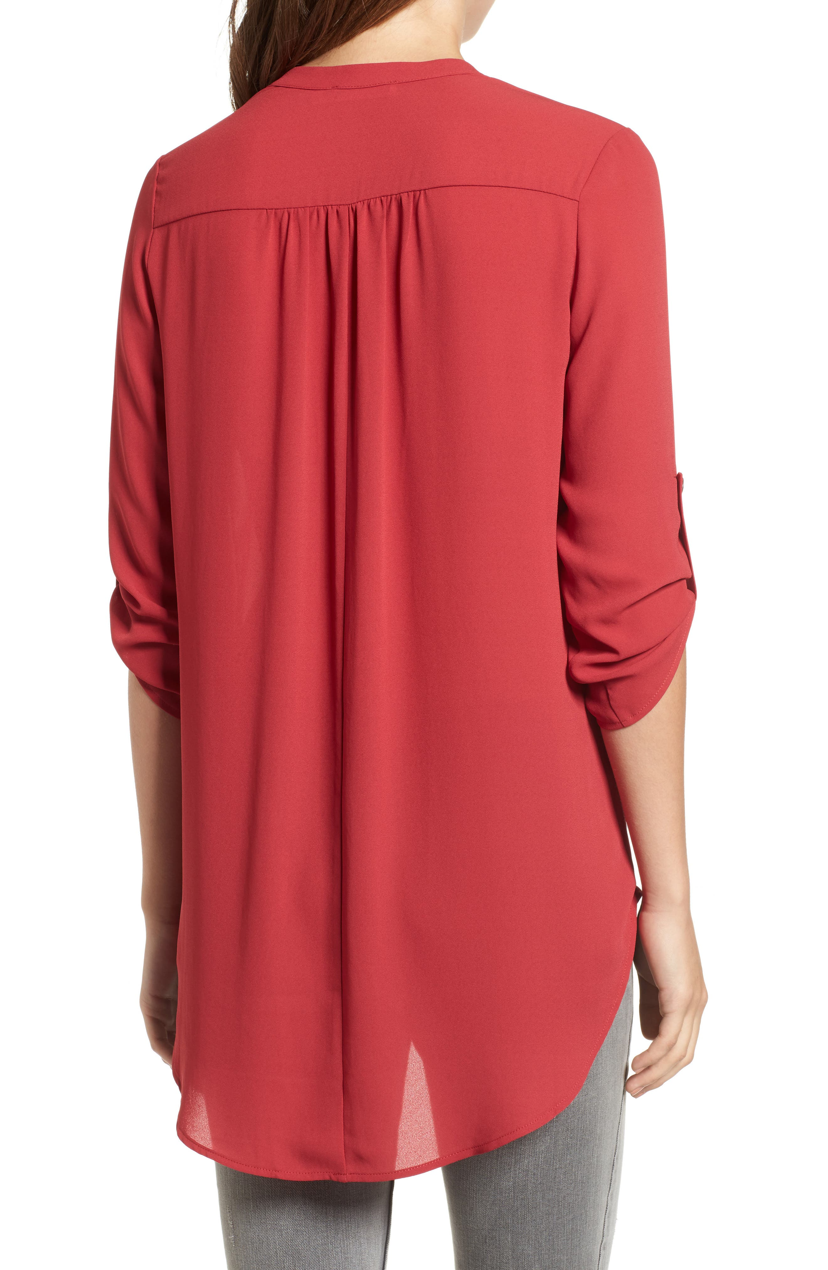 ,                             Perfect Roll Tab Sleeve Tunic,                             Alternate thumbnail 443, color,                             933