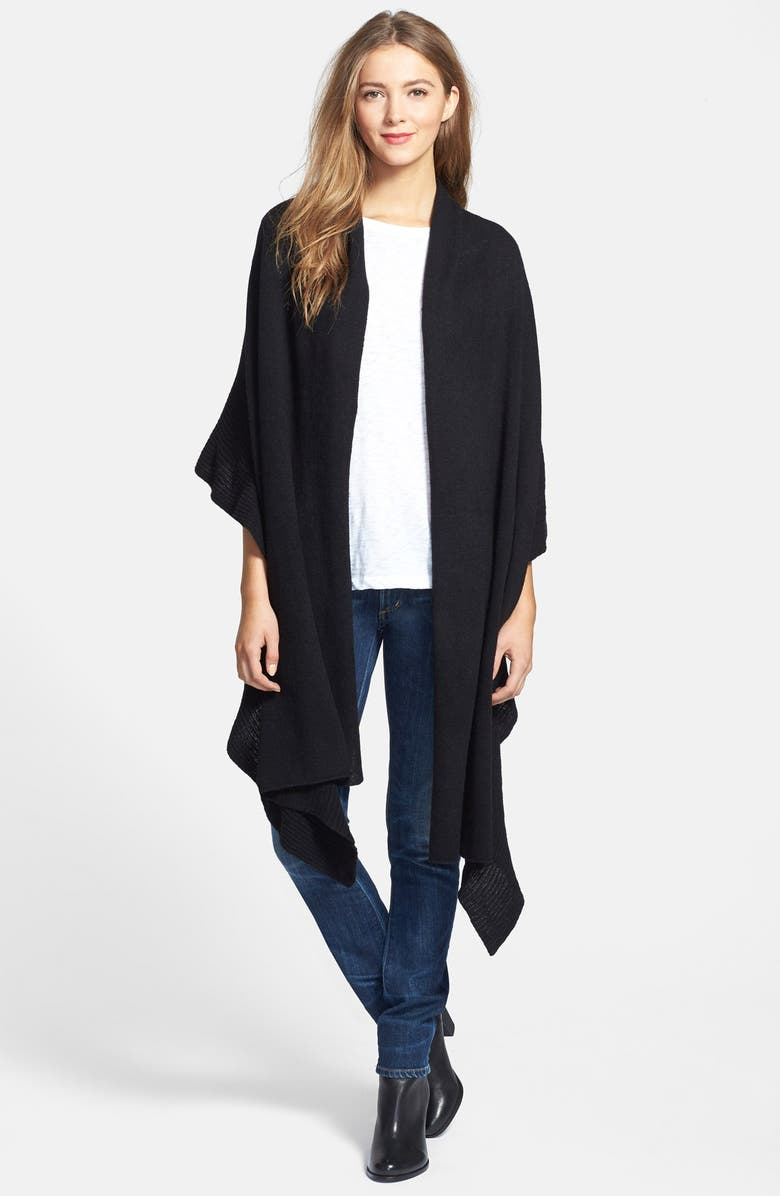 NORDSTROM Ruffle Wrap, Main, color, 001