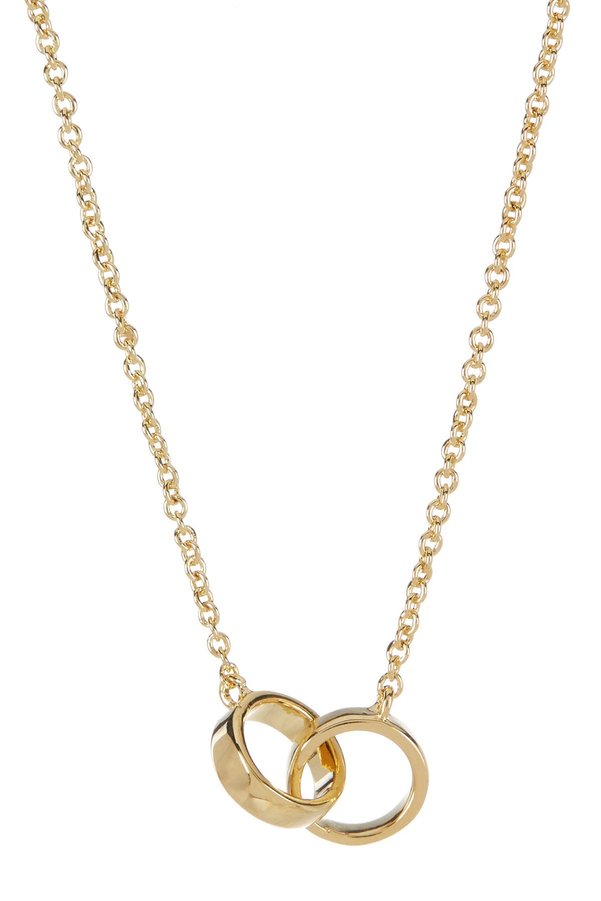 Image of Sterling Forever 14K Gold Plated Interlocking Circles Necklace