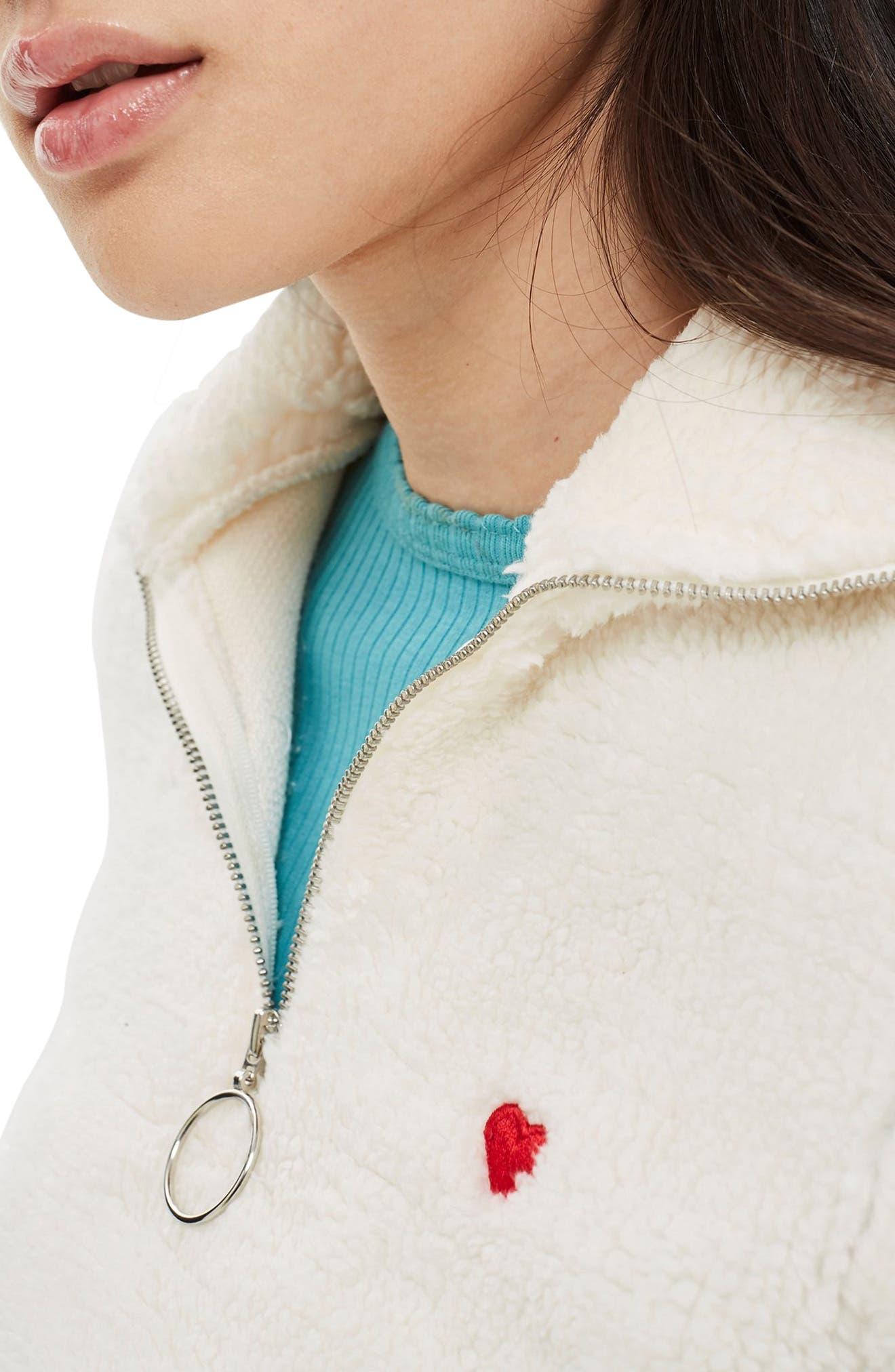 ,                             Borg Heart Quarter Zip Pullover,                             Alternate thumbnail 20, color,                             900