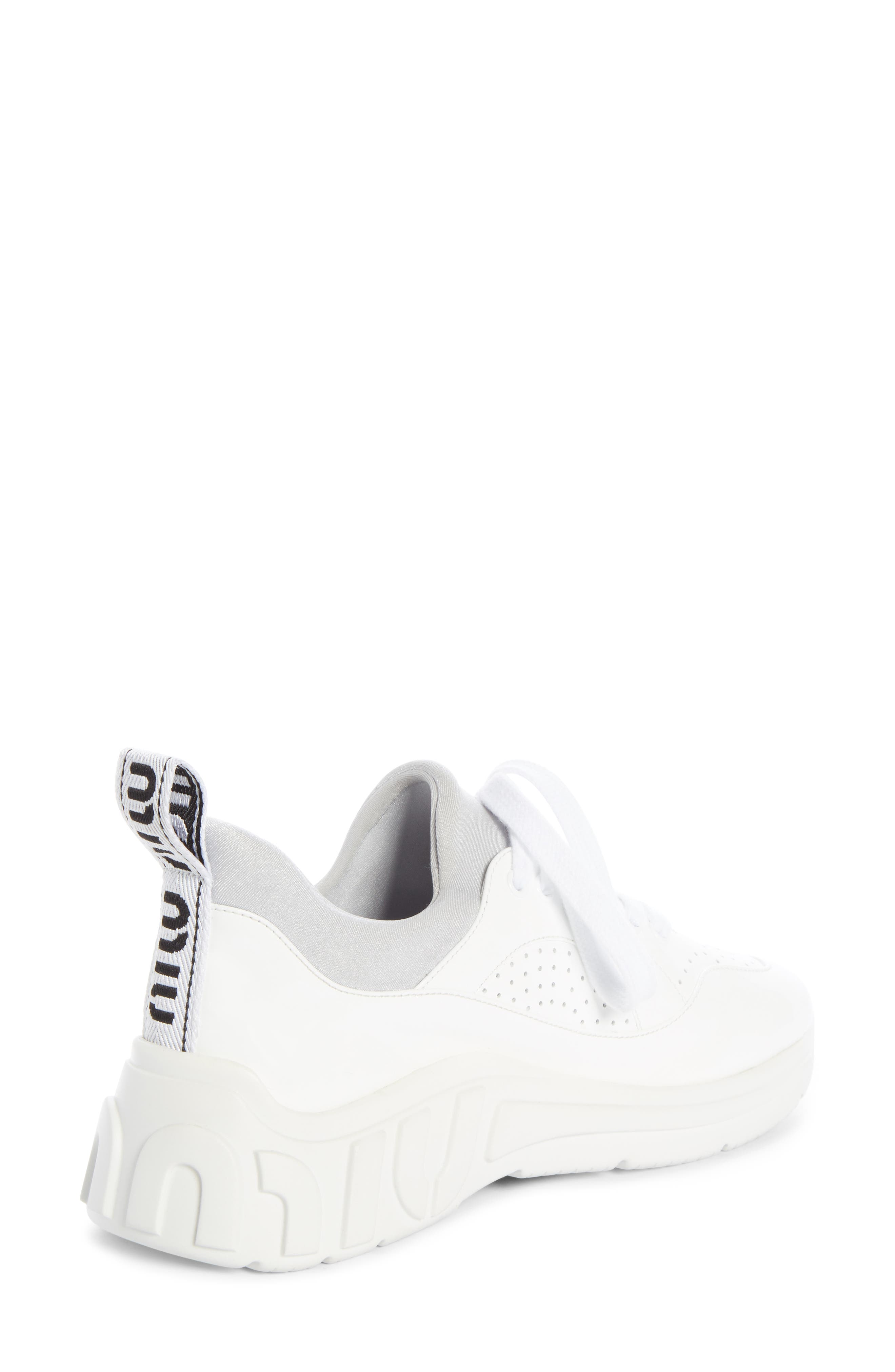 ,                             Logo Sole Sneaker,                             Alternate thumbnail 2, color,                             WHITE