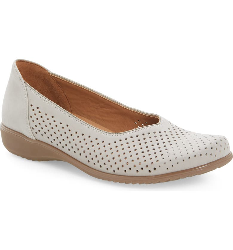 ARA Avril Perforated Flat, Main, color, MOON