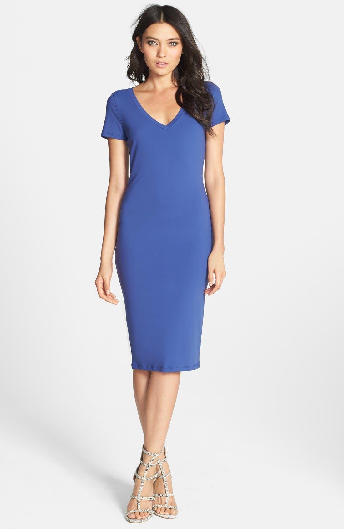 ,                             V-Neck Body-Con Dress,                             Main thumbnail 8, color,                             401