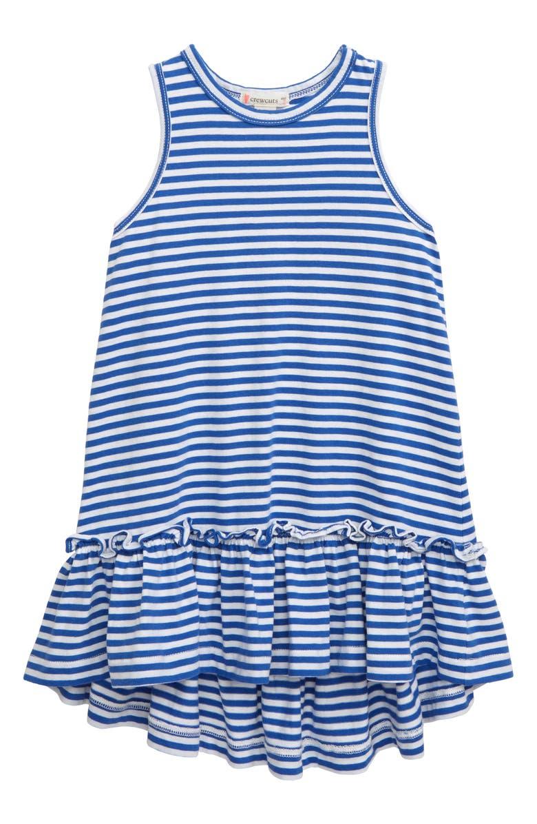 CREWCUTS BY J.CREW Drop-Waist Dress, Main, color, 100