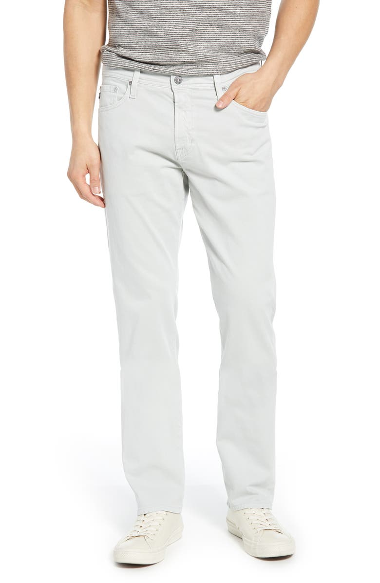 AG Everett SUD Slim Straight Fit Pants, Main, color, SULFUR MISTY MI