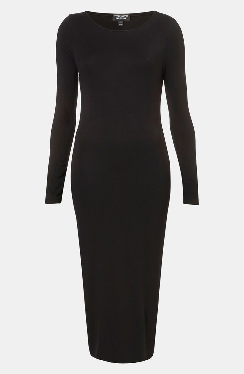 TOPSHOP Body-Con Midi Dress, Main, color, 001