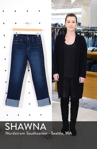 Cuffed High Waist Ankle Straight Leg Jeans, sales video thumbnail