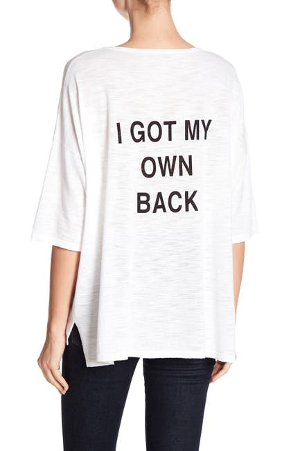 Image of 360 Cashmere Anaelle Back Graphic Print Top