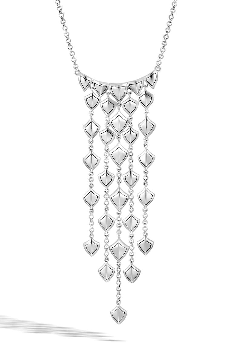 JOHN HARDY Legenda Naga Cascade Waterfall Necklace, Main, color, SILVER
