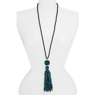 Stella + Ruby Velvet Tassel Necklace
