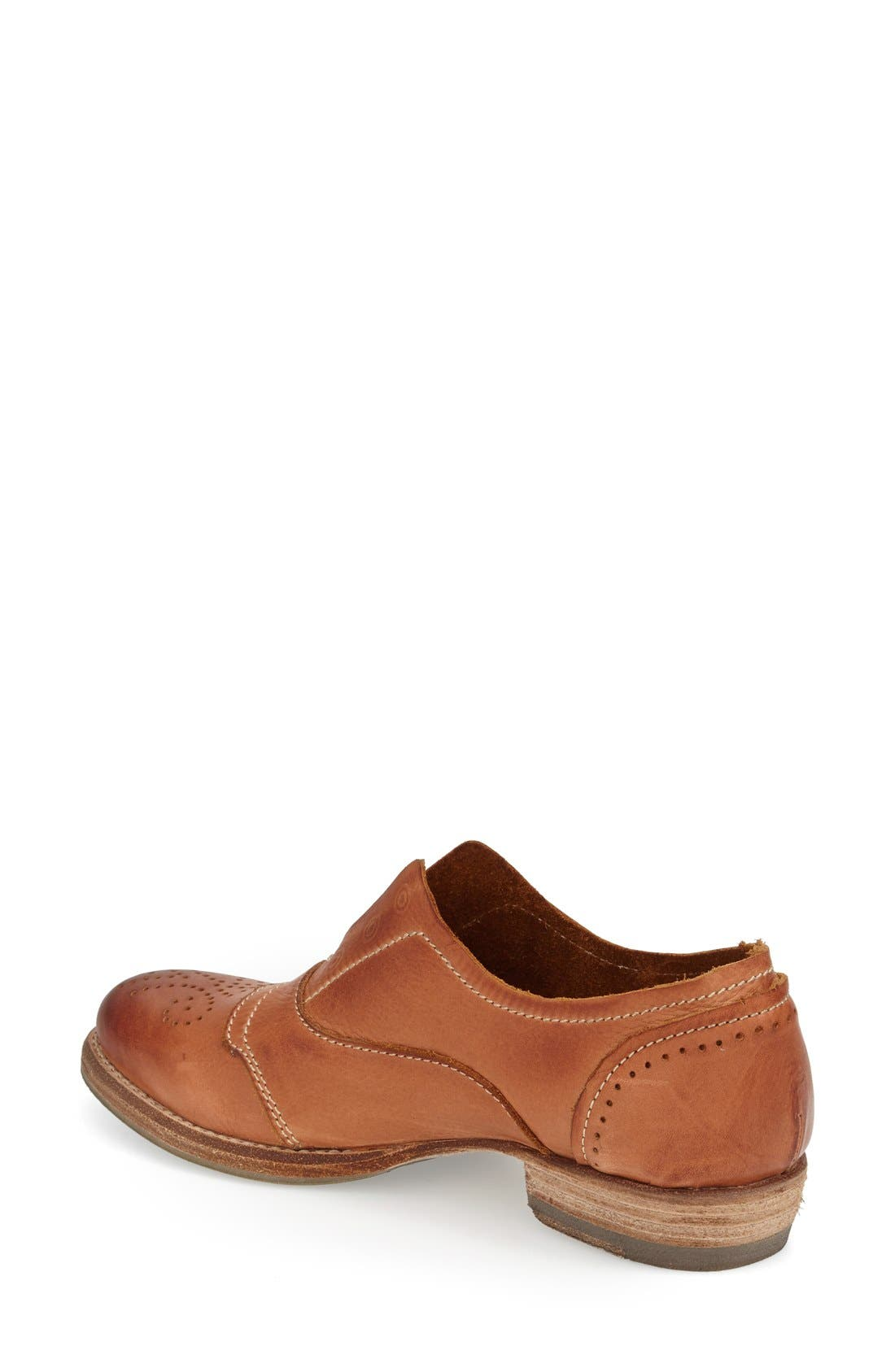 ,                             'HL55' Slip-On Oxford,                             Alternate thumbnail 2, color,                             RUSTY BROWN LEATHER