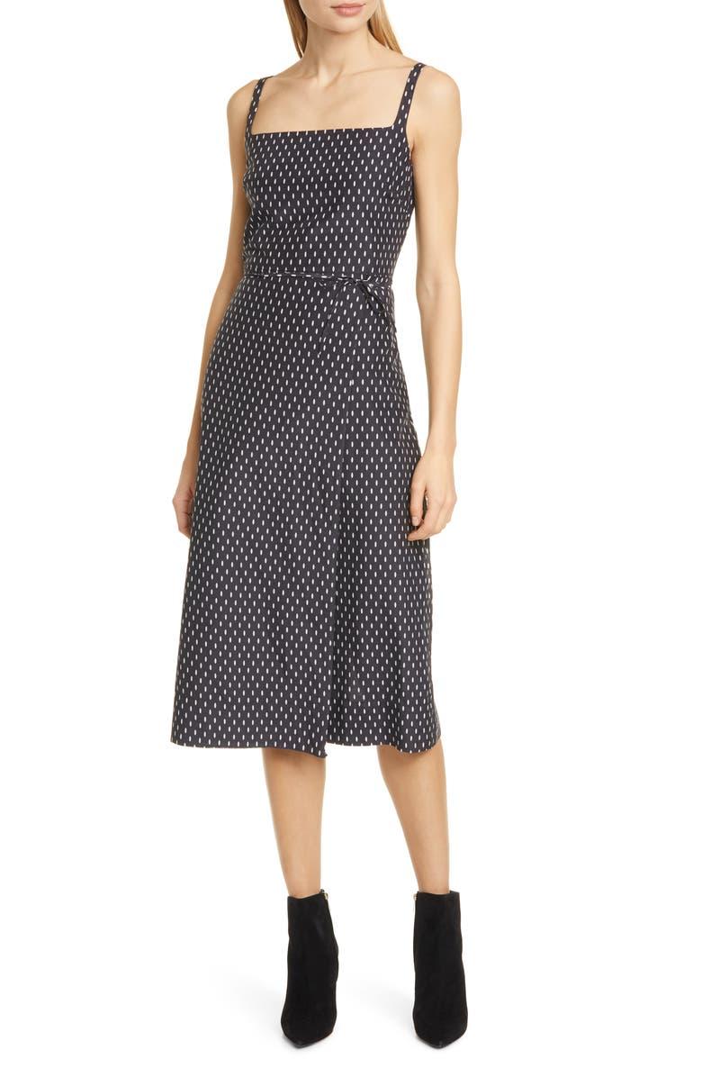 EQUIPMENT Paethina Geo Print Cotton & Silk Dress, Main, color, 001
