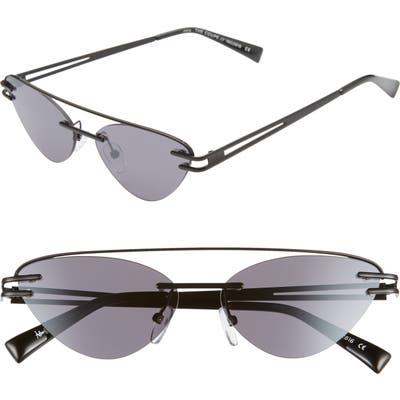 Adam Selman X Le Specs Luxe The Coupe 57Mm Rimless Sunglasses - Black/ Smoke/ Mirror