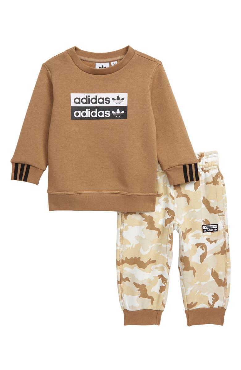 ADIDAS ORIGINALS V-Ocal Sweatshirt & Sweatpants Set, Main, color, 250