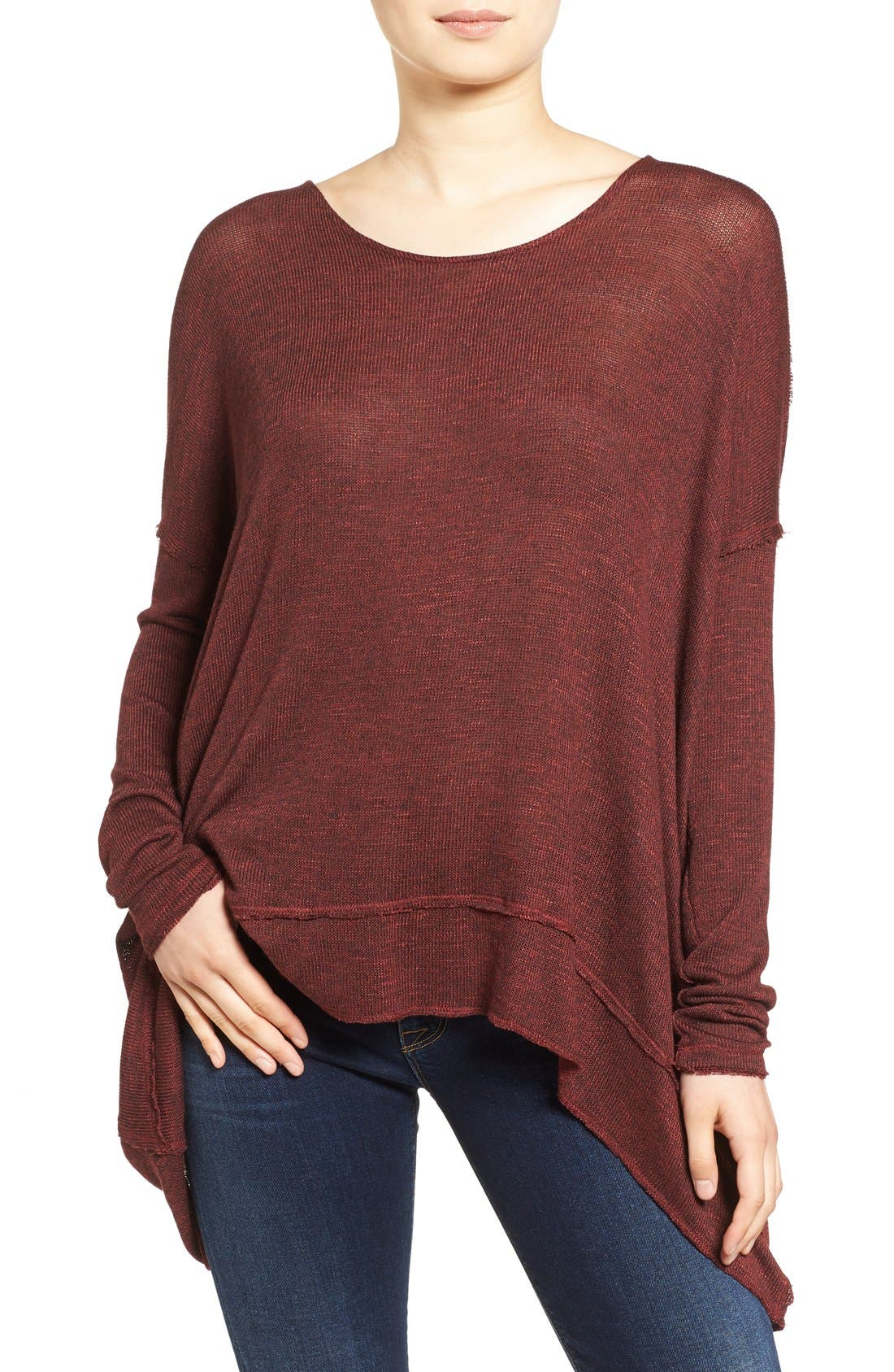 ,                             'Shadow' Oversize Hacci Open Back Top,                             Main thumbnail 25, color,                             930