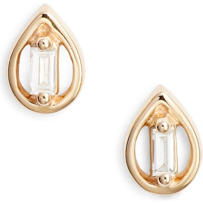 Dana Rebecca Designs Brielle Rose Pear Diamond Stud Earrings