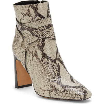 Vince Camuto Sestina Harness Square Toe Bootie, Beige