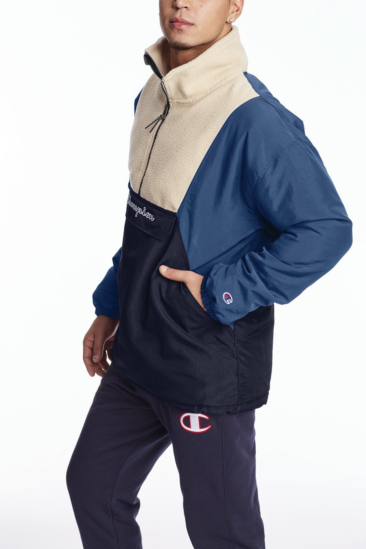Image of Champion Fleece Stadium Anorak